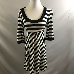 Dorothy Perkins black and white striped dress